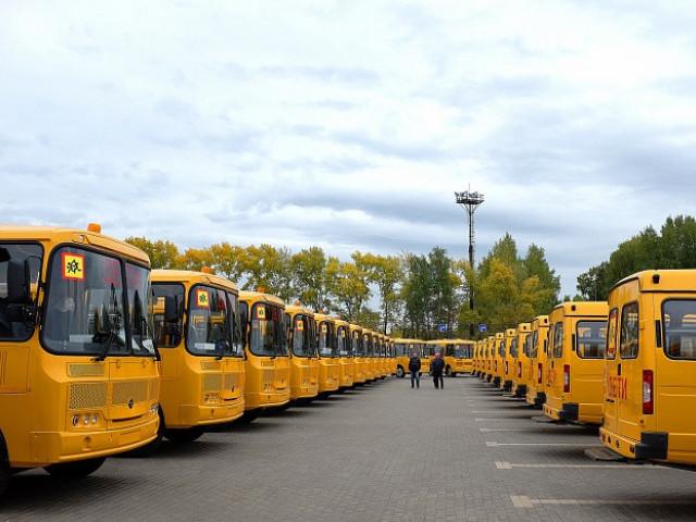 68 новых школьных автобусов поступили в Кировскую область