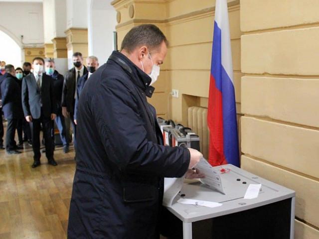 Игорь Комаров принял участие в Едином дне голосования